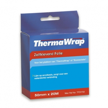 YBS thermawrap foil tape 20 meter 50mm aluminimum tape gecoat zelfklevend