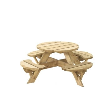 Ronde kinderpicknicktafel Jimmy