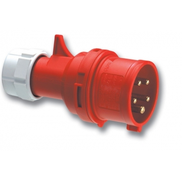 Cee contactstop pen 5P/16A/400V 6H IP44 rood