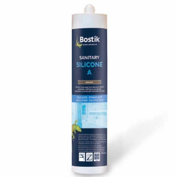 Bostik sanitary silicone A 310 ml grijs