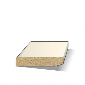 MDF plint 12x45 mm 488 cm greenline wit